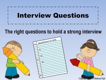 Interview Questions for Kids- The Right Questions