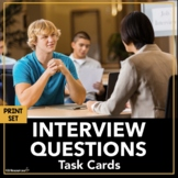 Job Interview Practice Questions for Students Career Readiness Activity EDITABLE