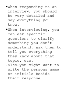 Interview Response Strategy