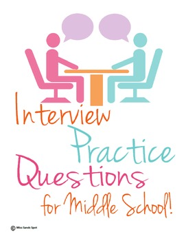 Interview Resume Skills Packet Middle School Edition By Miss Sands Spot