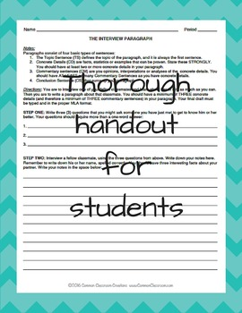 Interview Paragraph Writing Lesson