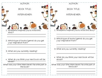 Interview Sheet for Writer Workshop