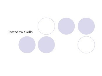 Interview Skills PowerPoint and Assignment