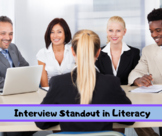Interview Standout in Literacy Online Course
