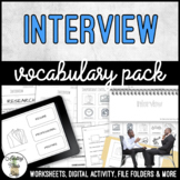Unit 5 Interview - Vocabulary Pack