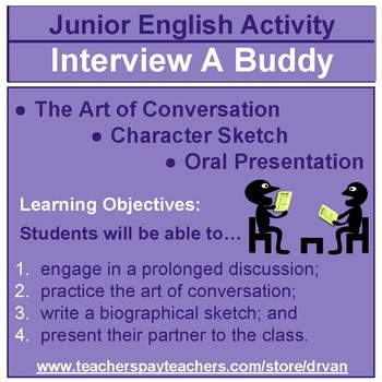 Interview a Buddy: Conversation, Writing, & Oral Presenting Assignment
