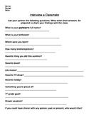 Interview a Classmate Activity