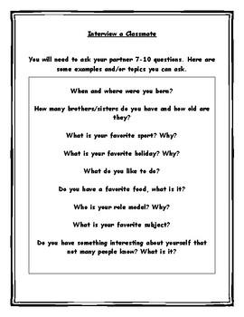 Interview a Classmate