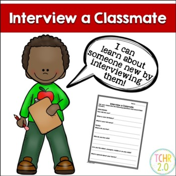 Interview a Classmate Write a Biography