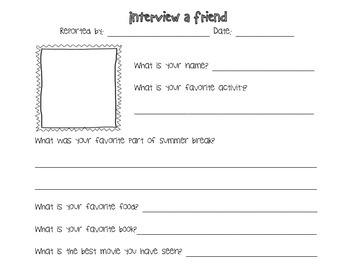 Interview a Friend