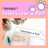 Interview a Pet Activity Worksheet and Teaching Guide