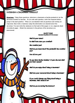 Interview a Snowman!