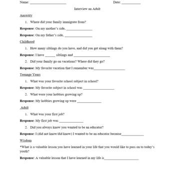 Interview an Adult