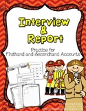 Interview and Report - Practice for First and Secondhand Accounts