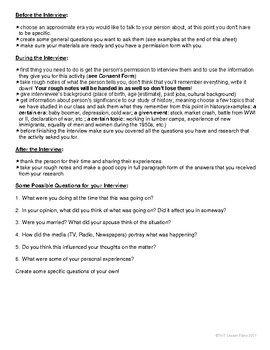 Interview and Research Independent Study for History