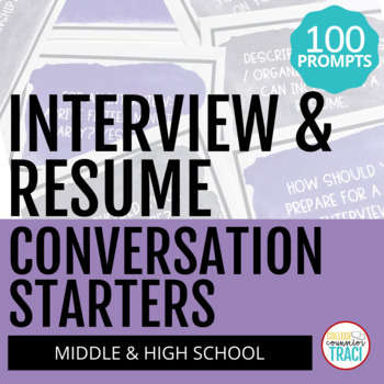Interview and Resume : 100 Icebreaker Questions
