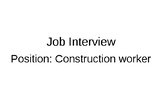 Interview for a Construction Worker (Canadian job interview)