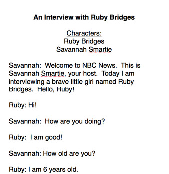Interview with Ruby Bridges Readers' Theatre  Play