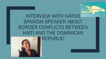 Interview with Spanish native--Dominican Republic and Haiti (Conditional tense)