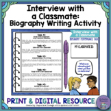Interview with a Classmate Biography: Back to School Activity