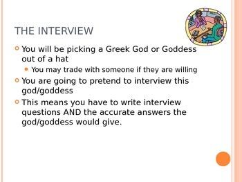 Interview with a Greek God/Goddess