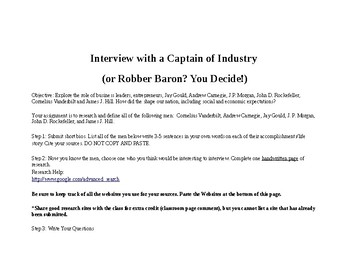 Interview with a Captain of Industry (or Robber Baron?)