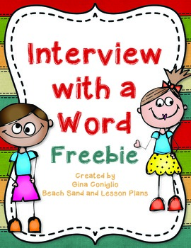 Interview with a Word Freebie