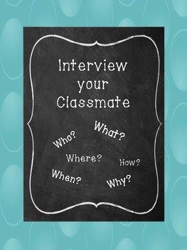 Interview your Classmate (Back to School)
