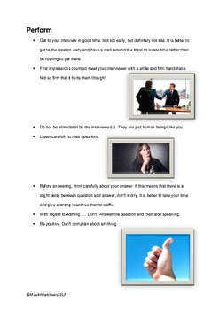 Interviews. How to have a successful interview