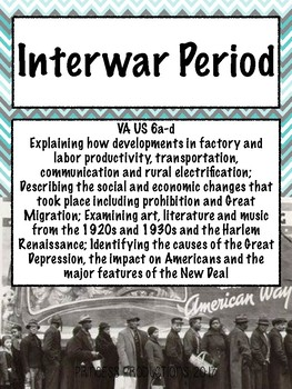 Interwar Period - US History 1865 to Present Cornell Notes