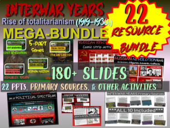 Interwar Years BUNDLE (22 PPTs & Documents) Nazism, Fascism, Communism, and more