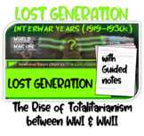 Interwar Years (PART 1 LOST GENERATION) of HIGHLY VISUAL & ENGAGING 82-slide PPT