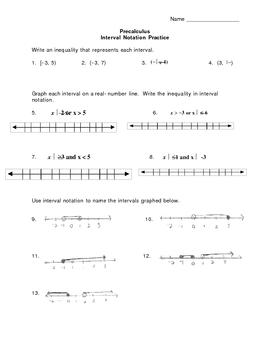 Inteval notation worksheet