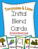 Initial Blends Cards {Turquoise & Lime}