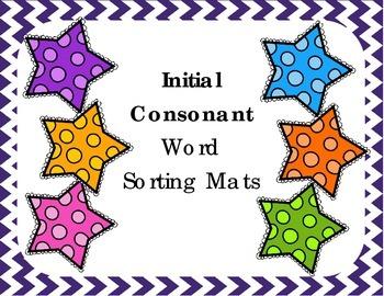 Intial Consonant Word Sorting Mats