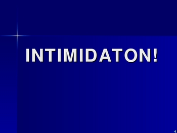 INTIMIDATION!  - question/answer game