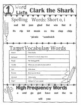 Into Reading 2nd Grade Word Lists for Modules 1 and Modules 2