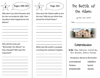 Into Reading 4th Grade Module 4 Trifold Bundle