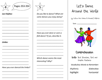 Into Reading 4th Grade Trifold Bundle