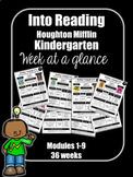 Into Reading Kindergarten Week at a Glance Houghton Miffli