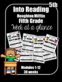 Into Reading Fifth Grade Week at a Glance Houghton Mifflin