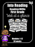 Into Reading First Grade Week at a Glance Houghton Mifflin