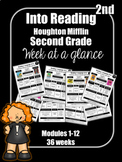 Into Reading Second Grade Week at a Glance Houghton Miffli