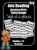 Into Reading Third Grade Week at a Glance Houghton Mifflin