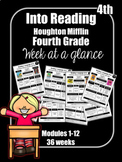 Into Reading Fourth Grade Week at a Glance Houghton Miffli