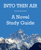 Into Thin Air - A novel study guide