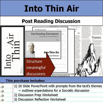 Into Thin Air - Socratic Method - Post Reading Discussions