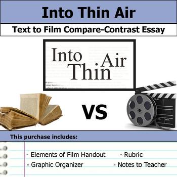 Into Thin Air - Text to Film Essay Bundle