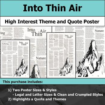 Into Thin Air - Visual Theme and Quote Poster for Bulletin Boards