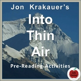 Into Thin Air by Jon Krakauer--Pre-Reading Activities